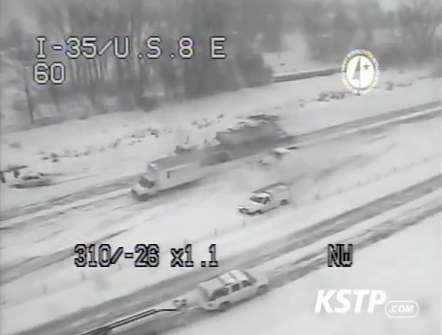 Minnesota Blizzard Freeway Crash in Forest Lake – large pileup
